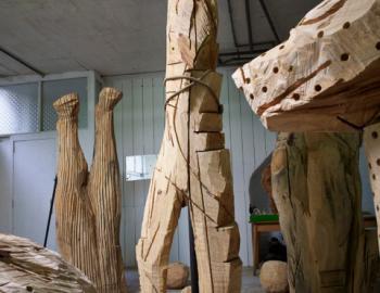 Annabelle Hyvrier, 'Woman' cedar tree ht: 280 cm, 2012