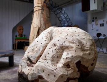 Annabelle Hyvrier, Fesses, Ht: 110cm, cedar, 2013