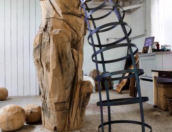 Annabelle Hyvrier, Miss him, Ht: 220cm, cedar and iron, 2013