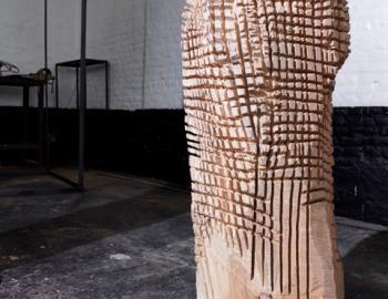 Annabelle Hyvrier, Beast, Ht: 120cm, cedar, 2013