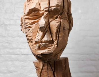 Annabelle Hyvrier, Simon Siegmann, 2012, oak, Ht: 74cm