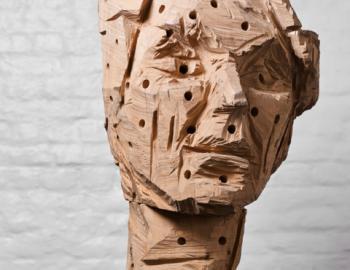 Annabelle Hyvrier, Charlotte Marchand, Ht: 65cm, oak, 2012