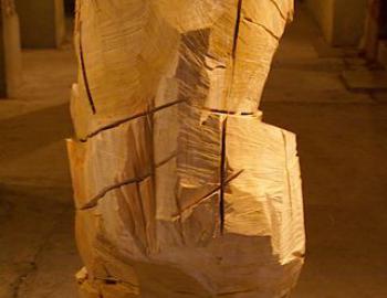 """Annabelle Hyvrier, """"LES LUTTEURS ETERNELS"""", 180 cm   tulipier"""