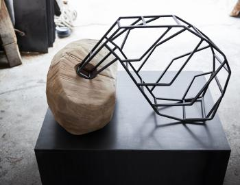 Annabelle Hyvrier 'Erotica' cedar, iron, 2017, l:70cm, ht: 45cm