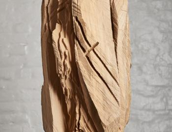 Annabelle Hyvrier, 'Mandragore' 2017, cedar, iron, ht: 67cm, l:32cm